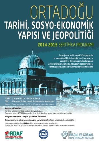 ORDAF Ortadoğu Okulu (Ortadoğu Tarihi, Sosyo-Ekonomik Yapısı ve Jeopolitiği 2014-2015)