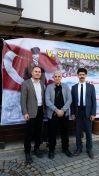 Safranbolu Zalifra Otel'in önünde Prof. Dr. Hüseyin Bağcı hocamla..