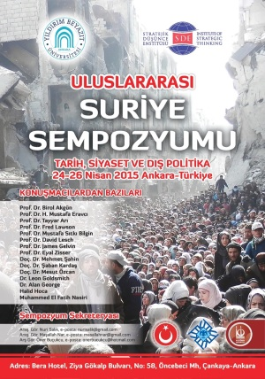 Uluslararası Suriye Sempozyumu (24-26 Nisan 2015 Ankara)
