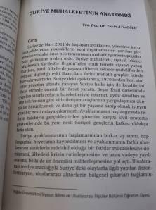 Suriye Muhalefetinin Anatomisi (Küçük Orta Doğu Suriye Kitabı'nın içinde, Ed: Ümit Özdağ, 2012)